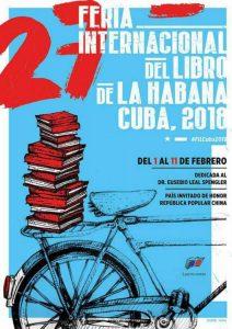 Cartel de la Feria Internacional del Libro de La Habana 2018