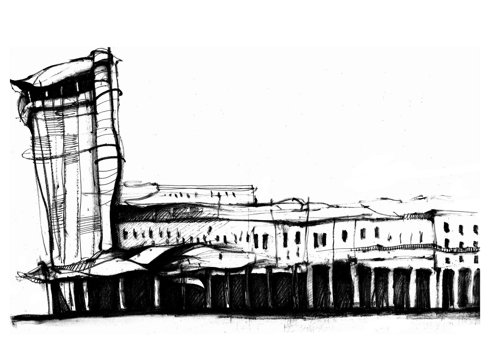 Dibujo de Prado y Malecón